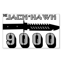 Jack Hawk Rectangle Sticker (Rectangle 10 pk)