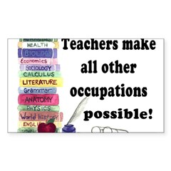 """Teacher Occupations"" Rectangle Sticker (Rectangle 10 pk)"