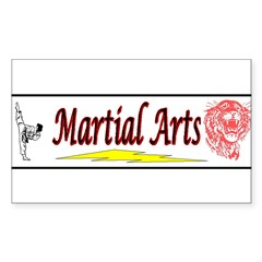 Tiger Martial Arts Sticker (Rectangle 10 pk)