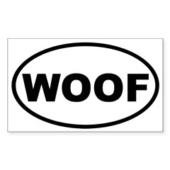 Woof Oval Sticker (Rectangle 10 pk)