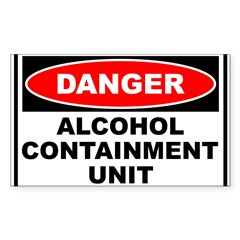 Alcohol Containment Rectangle Sticker (Rectangle 10 pk)