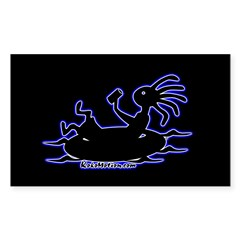 Kokopelli Tuber Rectangle Sticker (Rectangle 10 pk)