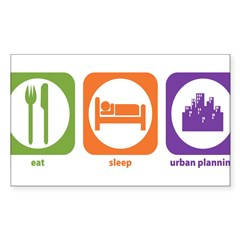 Eat Sleep Urban Rectangle Sticker (Rectangle 10 pk)