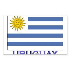 Uruguay Flag Gear Rectangle Sticker (Rectangle 10 pk)