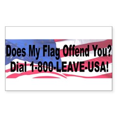 Does My Flag Offend You Sticker (Rectangle 10 pk)