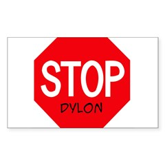 Stop Dylon Sticker (Rectangle 10 pk)