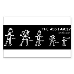 The Ass Family Sticker (Rectangle 10 pk)