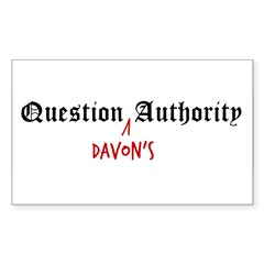 Question Davon Authority Sticker (Rectangle 10 pk)