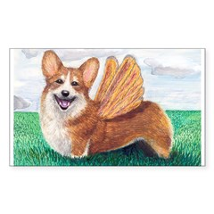 Corgi Rectangle Sticker (Rectangle 10 pk)