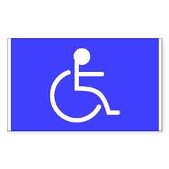 """Disabled"" Rectangle Sticker (Rectangle 10 pk)"