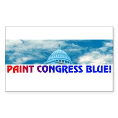 PAINT CONGRESS BLUE! Sticker (Rectangle 10 pk)
