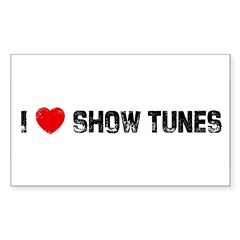 I * Show Tunes Sticker (Rectangle 10 pk)