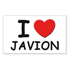 I love Javion Rectangle Sticker (Rectangle 10 pk)
