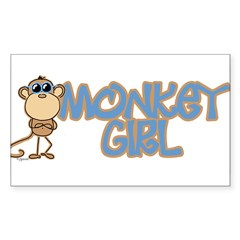 Monkey Girl Oval Sticker (Rectangle 10 pk)