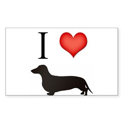 doxie love Rectangle Sticker (Rectangle 10 pk)
