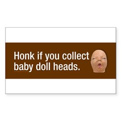 Collect baby doll heads Sticker (Rectangle 10 pk)