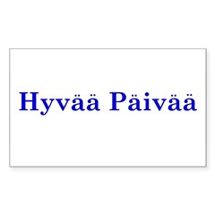 Hyvää Päivää Rectangle Sticker (Rectangle 10 pk)