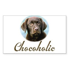 Chocoholic Rectangle Sticker (Rectangle 10 pk)