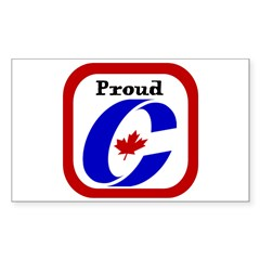 Proud Canadian Conservative Rectangle Sticker (Rectangle 10 pk)