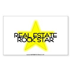 Real Estate Rock Star Oval Sticker (Rectangle 10 pk)
