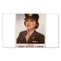 Army Nurse Corps Rectangle Sticker (Rectangle 10 pk)
