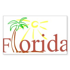Florida Palm Rectangle Sticker (Rectangle 10 pk)