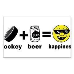 Funny Hockey Rectangle Sticker (Rectangle 10 pk)