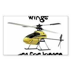 Helicopter Rectangle Sticker (Rectangle 10 pk)