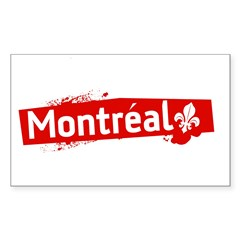 'Montreal' Rectangle Sticker (Rectangle 10 pk)