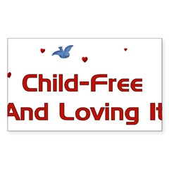 Child Free Sticker (Rectangle 10 pk)