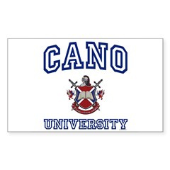 CANO University Rectangle Sticker (Rectangle 10 pk)
