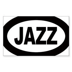 Jazz Car Oval Sticker (Rectangle 10 pk)