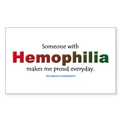 Hemophilia Pride Rectangle Sticker (Rectangle 10 pk)