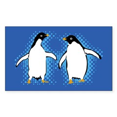Dancing Penguins Rectangle Sticker (Rectangle 10 pk)