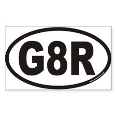 G8R Euro Oval Sticker (Rectangle 10 pk)