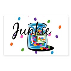 Jelly Bean Junkie Rectangle Sticker (Rectangle 10 pk)