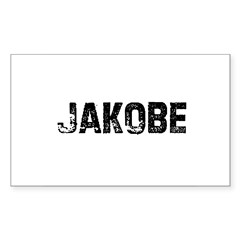 Jakobe Rectangle Sticker (Rectangle 10 pk)