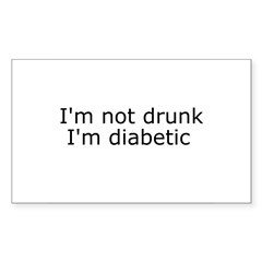 Diabetic Info Rectangle Sticker (Rectangle 10 pk)