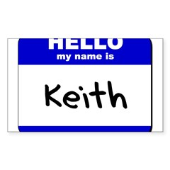 hello my name is keith Rectangle Sticker (Rectangle 10 pk)