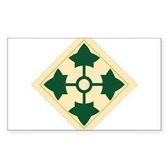 4th Infantry Division Rectangle Sticker (Rectangle 10 pk)