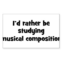 Study musical composition Sticker (Rectangle 10 pk)
