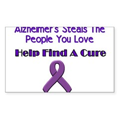 alzheimer's steals Sticker (Rectangle 10 pk)