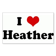 I Love Heather Sticker (Rectangle 10 pk)