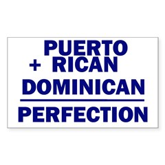 Dominican + Puerto Rican Rectangle Sticker (Rectangle 10 pk)