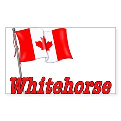 Canada Flag - Whitehorse Rectangle Sticker (Rectangle 10 pk)