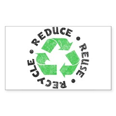 Recycle! Rectangle Sticker (Rectangle 10 pk)