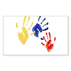 Colombian hands Sticker (Rectangle 10 pk)