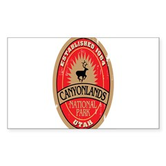 Canyonlands National Park Oval Sticker (Rectangle 10 pk)