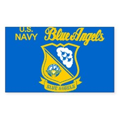The Navy Blue Angeles Sticker (Rectangle 10 pk)