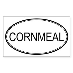 CORNMEAL (oval) Oval Sticker (Rectangle 10 pk)